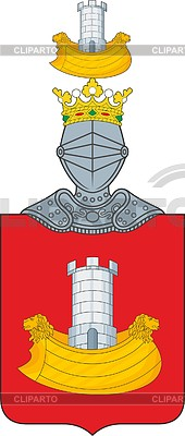 170x400 Polish Family Coat Of Arms Korab Stock Vector Graphics Cliparto