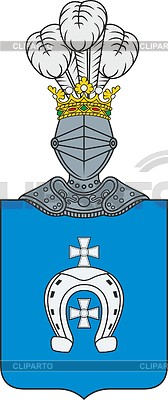 168x400 Polish Family Coat Of Arms Lubicz Stock Vector Graphics Cliparto