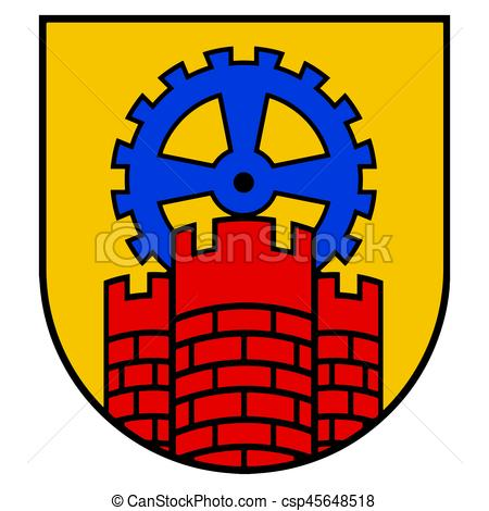 450x470 Coat Of Arms Of Zabrze, Poland. Vector Format.