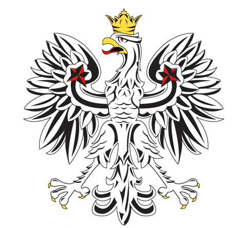 482x444 Polish Eagle Clip Art