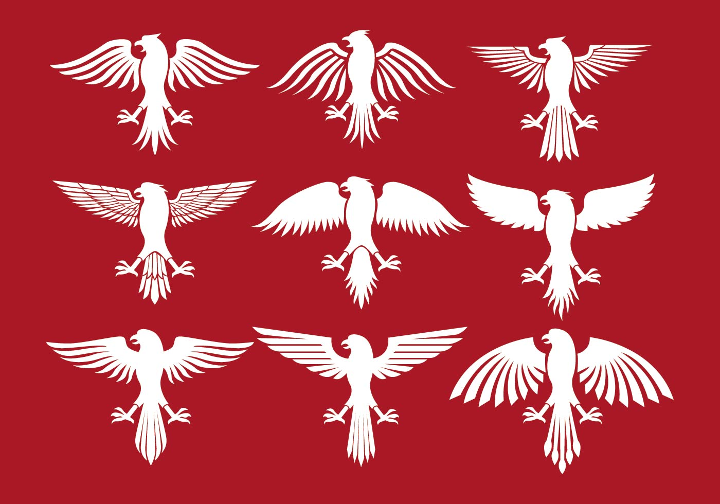 1400x980 Announcing Polish Eagle Stencil Icons Download Free Vector Art