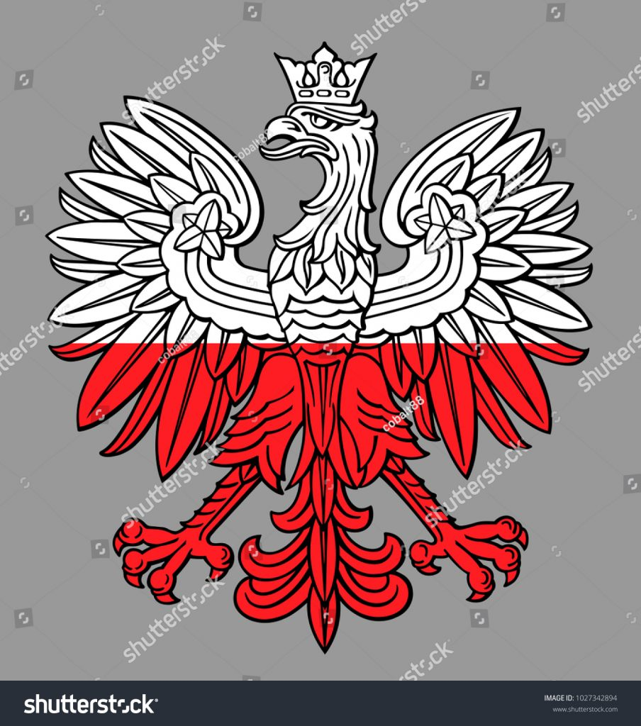 904x1024 Reduced Polish Eagle Stencil Poland National White Red Colors