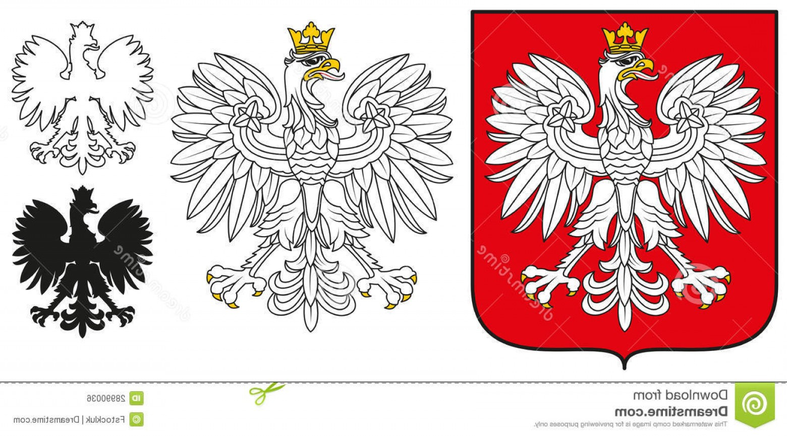 1560x866 Royalty Free Stock Image Poland Emblem White Eagle Shield