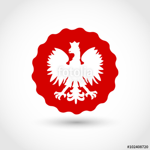 500x500 Badge With Polish Eagle Vector Stock Image And Royalty Free