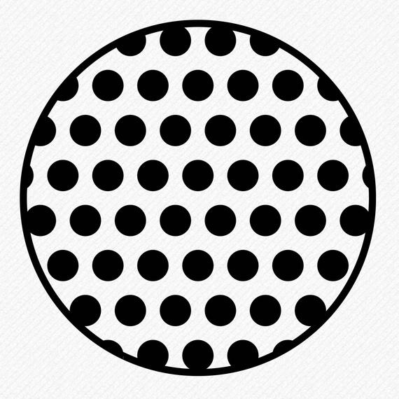 570x570 Polka Dots Circle Svg Polka Dots Circle Silhouette Polka Dot Etsy