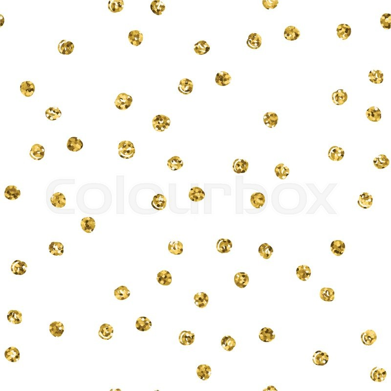 800x800 Seamless Pattern With Gold Glitter Polka Dot. Stock Vector