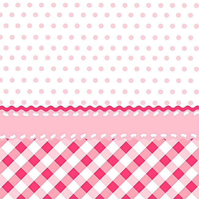 650x650 Pink Polka Dot Lattice Vector Background Material, Vector, Pink