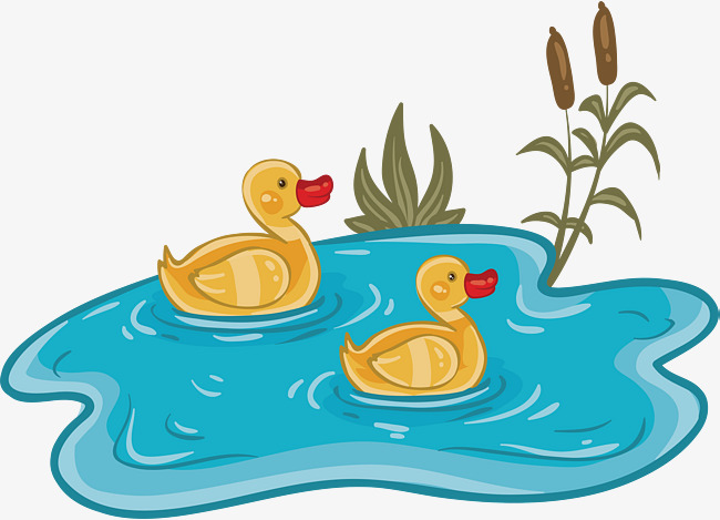 650x469 The Duckling In The Pond, Vector Png, Duckling, Pond Png And