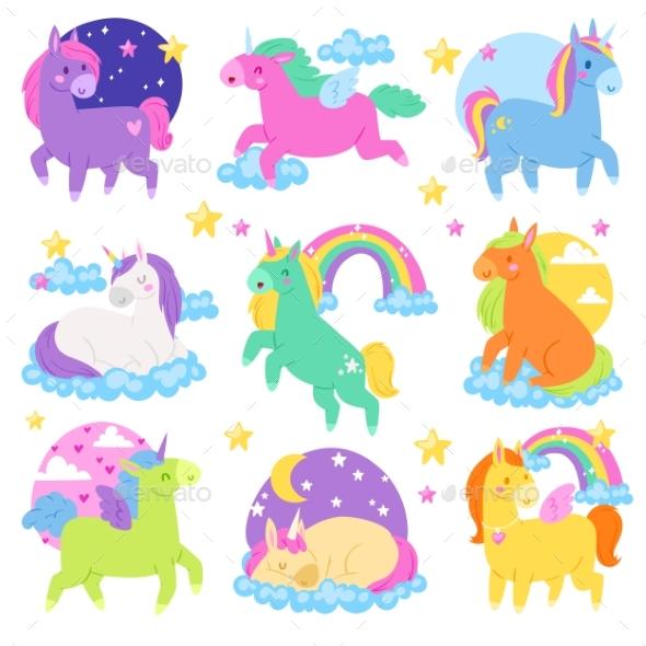 590x590 Pony Vector Cartoon Unicorn Or Baby Character By Pantimetrok