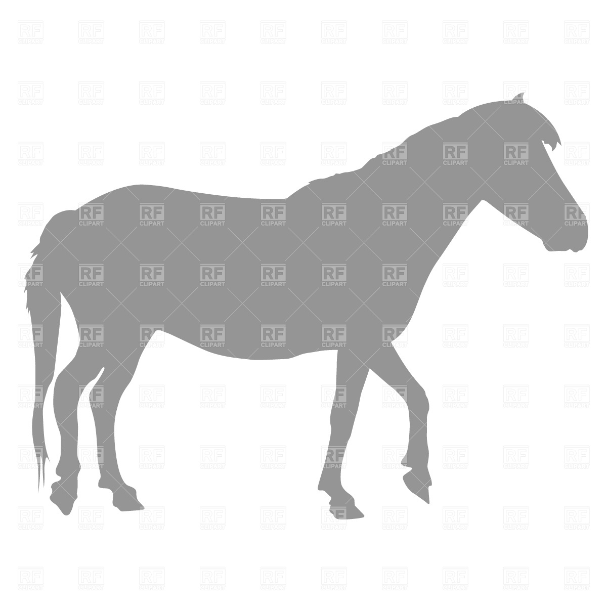 1200x1200 Pony Silhouette Vector Image Vector Artwork Of Plants And