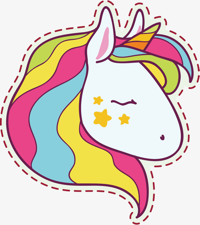 650x729 Vector Hand Painted Cute Pony, Colour, Pony, Vector Diagram Png
