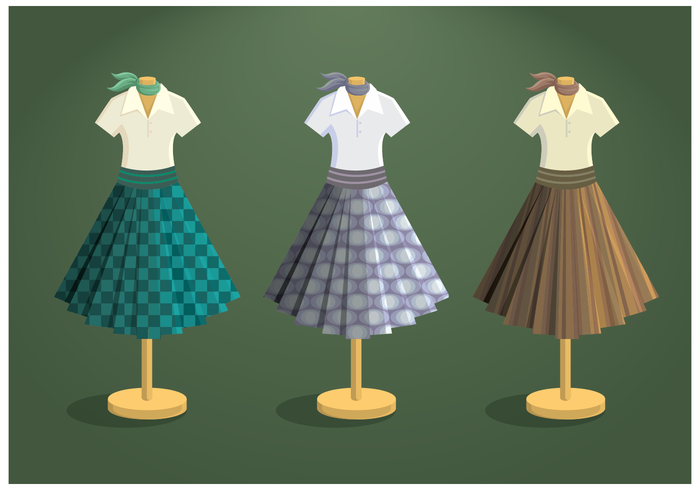 700x490 Free Poodle Skirt Vector