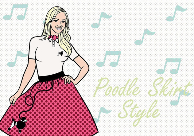 632x443 50s Poodle Skirt Vector Background Free Vector Download 441065