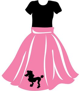 261x300 Collection Of Free Fifties Clipart Poodle Skirt. Download On Ubisafe
