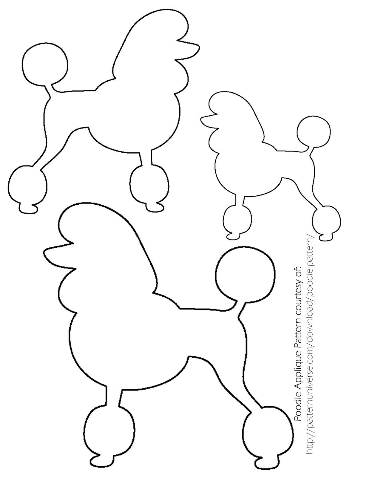 1237x1600 Dog Poodle Skirt Pattern
