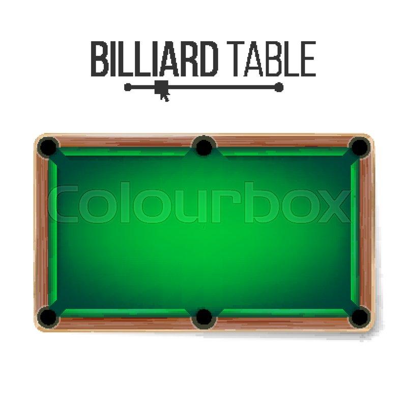 800x800 Realistic Billiard Table Vector. American Pool Table. Sport Theme