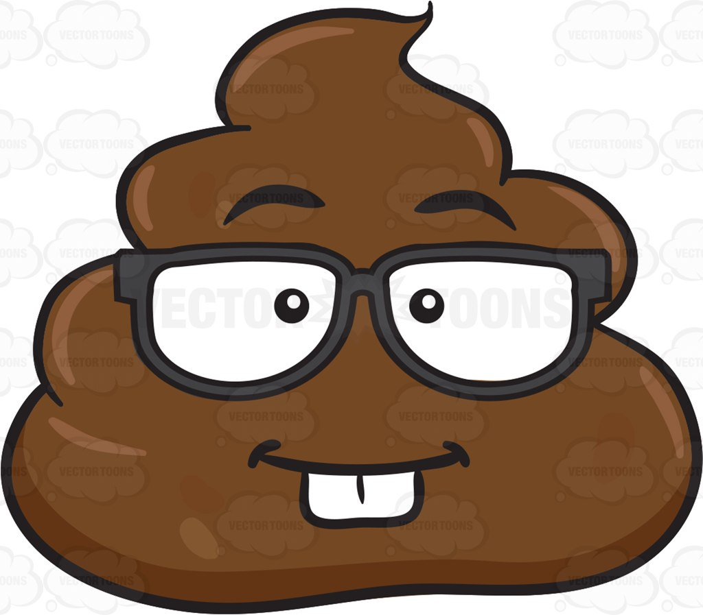 1024x897 A Nerdy Pile Of Poo Clipart By Vector Toons