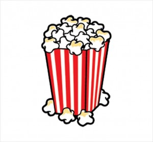 300x279 Drawn Popcorn Vector