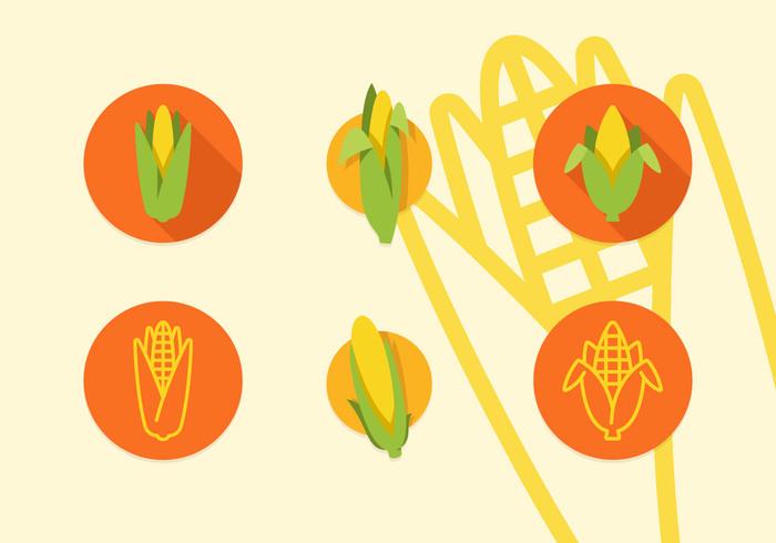 700x490 Ear Of Corn Vector Flat Icons 147842
