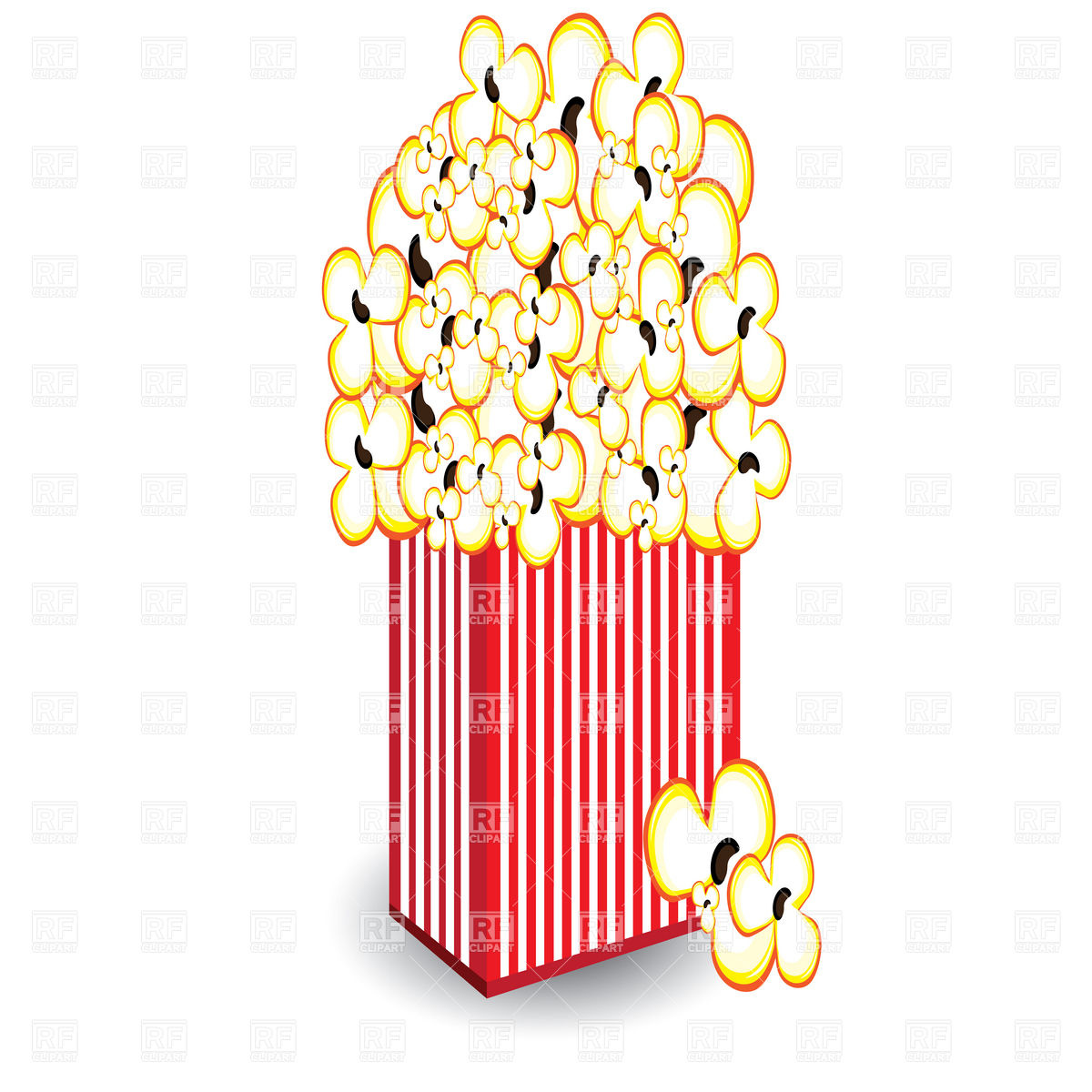 1200x1200 Pack Of Popcorn Vector Image Vector Artwork Of Food And