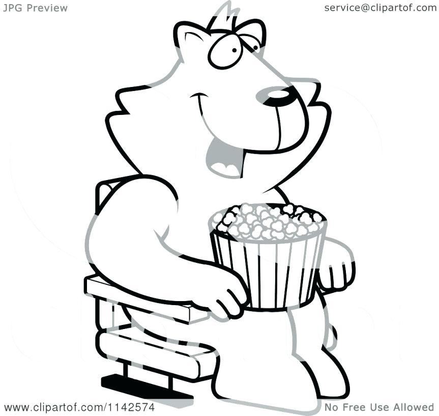 863x818 Popcorn Kernel Coloring