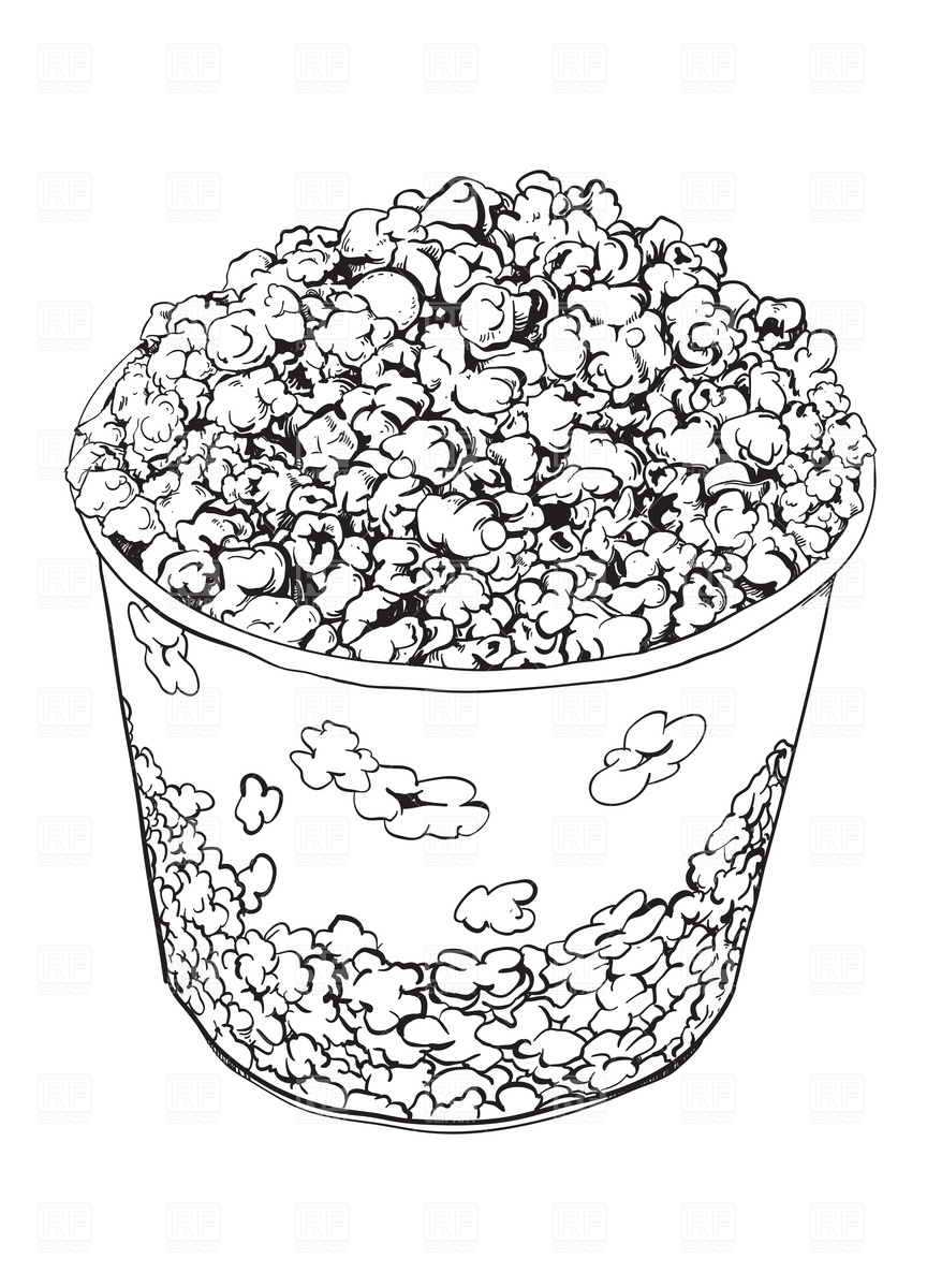 864x1200 Popcorn Vector Image Vector Artwork Of Food And Beverages