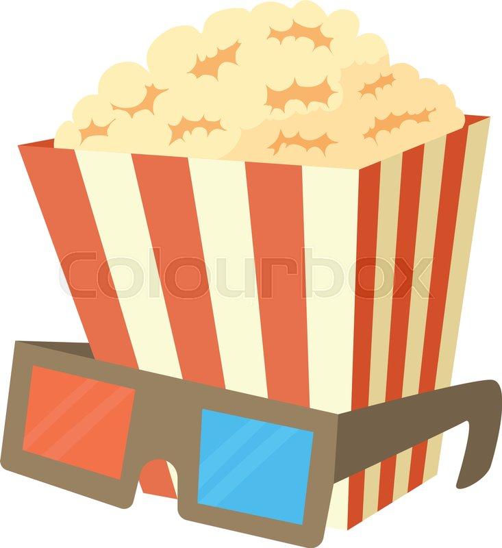 733x800 Popcorn Icon. Cartoon Illustration Of Popcorn Vector Icon For Web