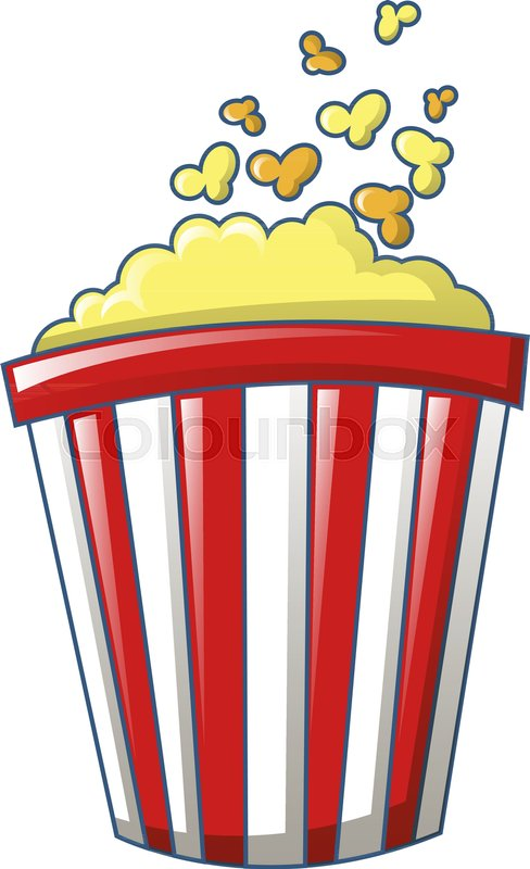 488x800 Popcorn Icon. Cartoon Of Popcorn Vector Icon For Web Design