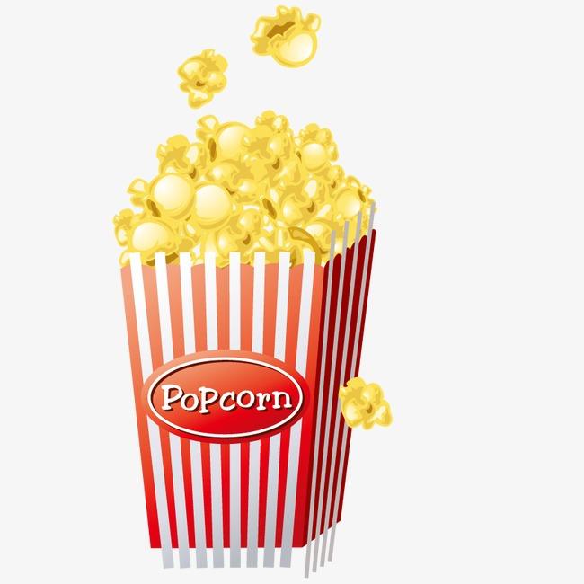 650x650 Vector Popcorn Snack, Popcorn Vector, Popcorn Clipart, Food Png