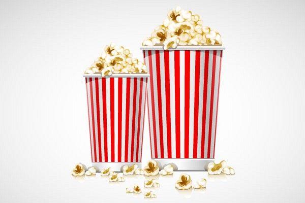 600x400 Free Popcorn Vector Illustration Free Popcorn