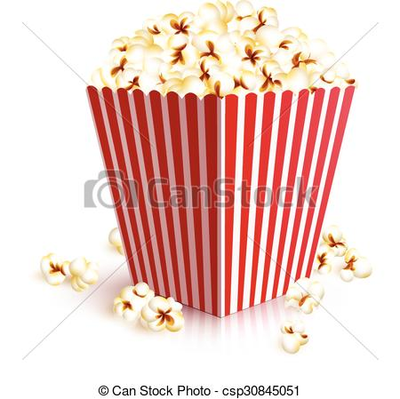 450x449 Realistic Popcorn Bucket. Realistic Four Squared Paper Bucket Full