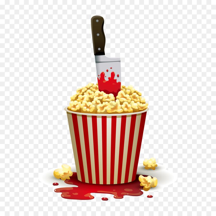900x900 Download Popcorn Cinema Illustration Vector Popcorn And Knife