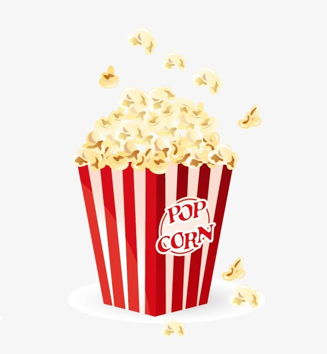 650x704 Vector Popcorn, Popcorn Clipart, Cartoon, Vector Png Image And