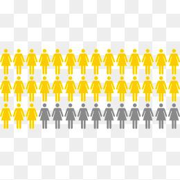 260x261 Vector Creative Design Female Population Chart, Chart Vector