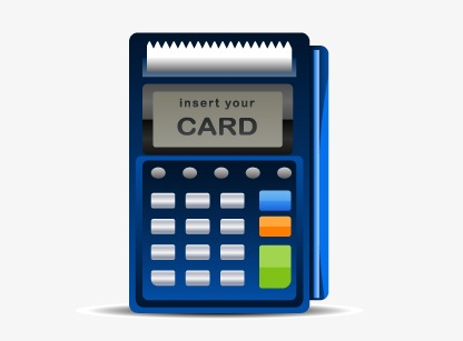 416x307 Credit Card Machine, Card Vector, Pos Cash Register, Credit Card