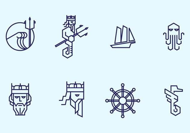 632x443 Du Vecteur Gratuit Poseidon Icon