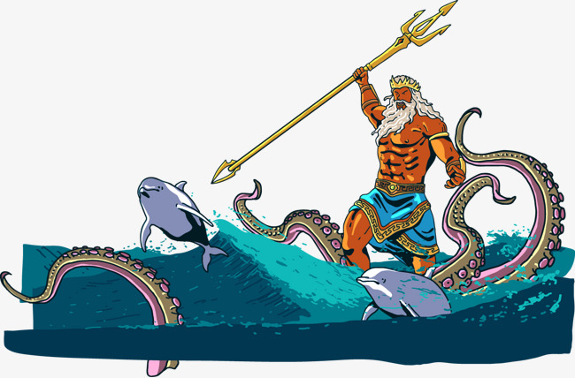 650x428 Vector Sea Creatures To Fight, Sea Vector, Poseidon, Octopus Png