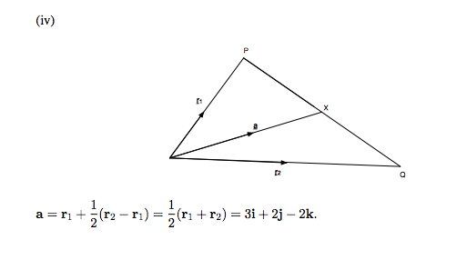 513x286 Finding The Position Vector Of The Midpoint Of A Line Formed By