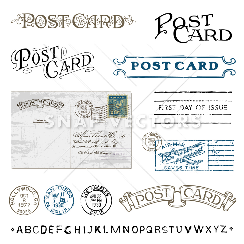 Postcard Stamp Vector