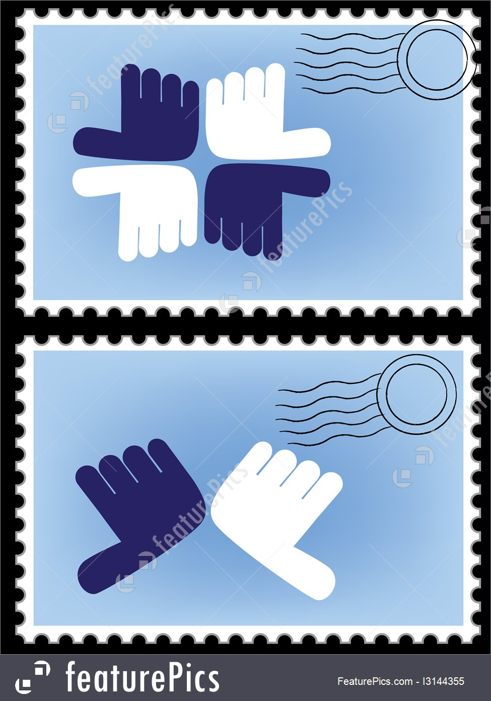 975x1392 Postage Stamp Vector