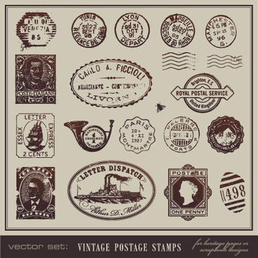 368x368 Postcard Stamp Vector Free Vector Download (1,459 Free Vector) For
