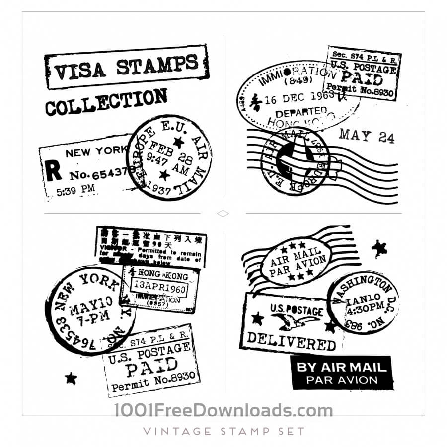 Postcard Stamp Vector at GetDrawings com | Free for personal