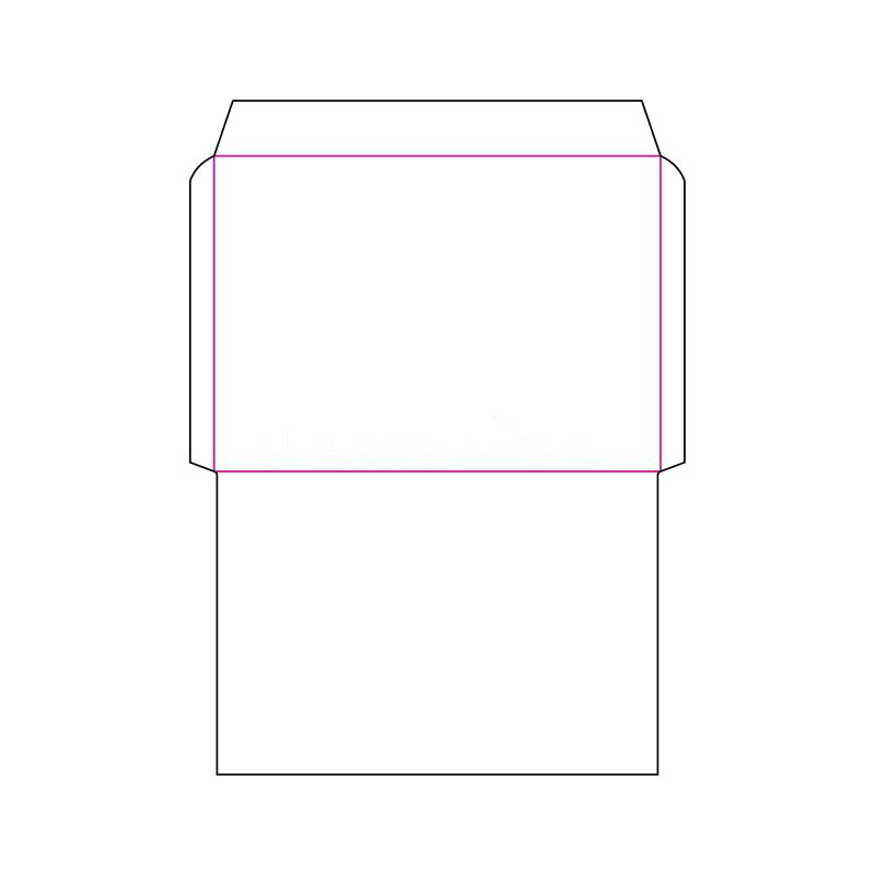 800x800 Download Envelope Size Template Stock Vector Illustration Of