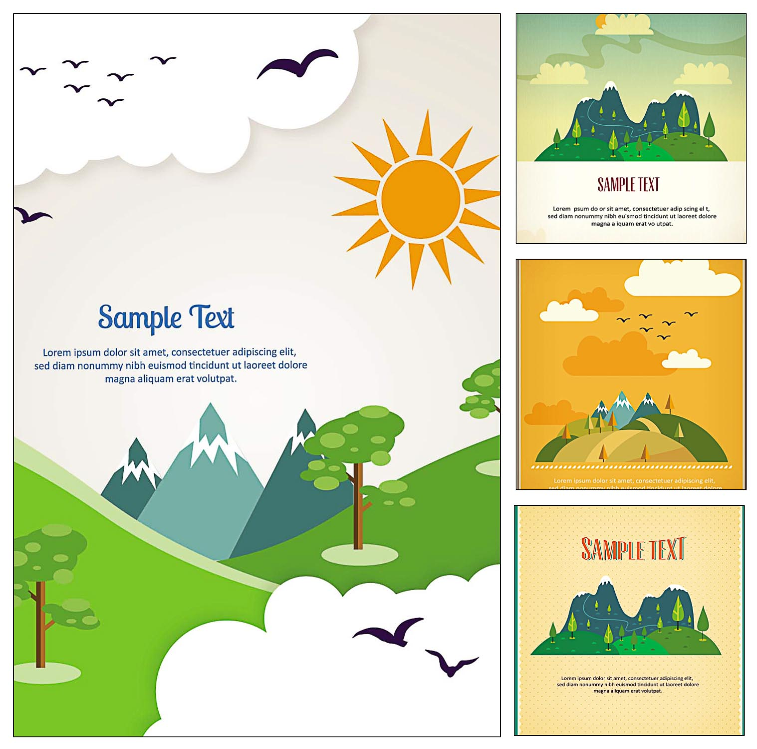 1517x1500 Travel Postcard Illustration Vector Free Download