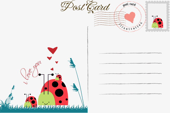 650x432 Cute Ladybug Postcard, Vector Material, Teach Early, Star Film Png
