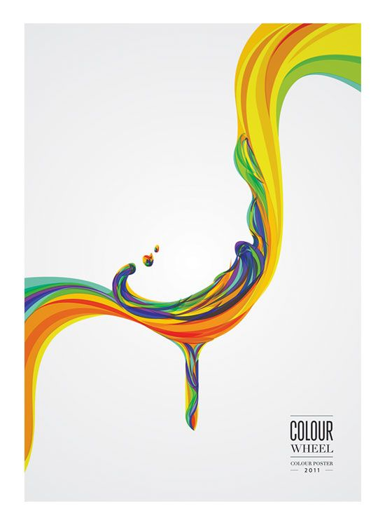 550x749 Colour Wheel Poster Conceptual Vector Design Print School