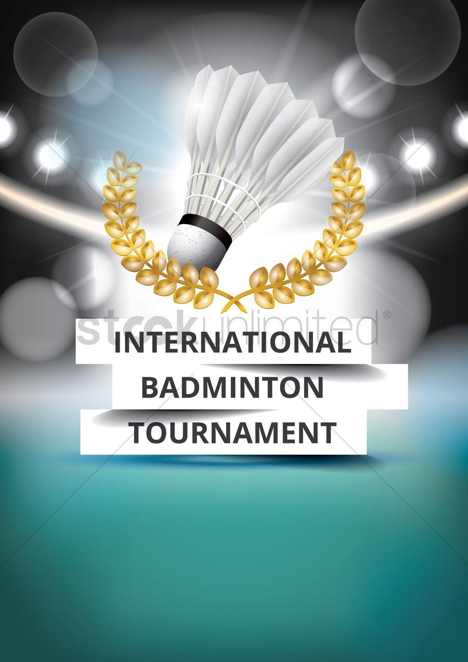 919x1300 International Badminton Tournament Poster Design Vector Image