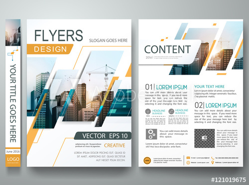 500x372 Abstract Square In Cover Book Portfolio Presentation Poster Design