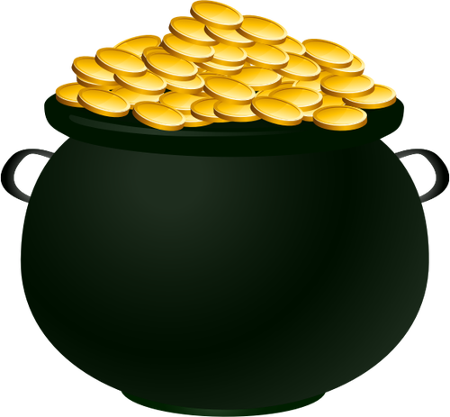 500x463 A Pot Of Gold Vector Image Public Domain Vectors