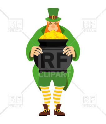 341x400 Leprechaun And Pot Of Gold Vector Image Vector Artwork Of People